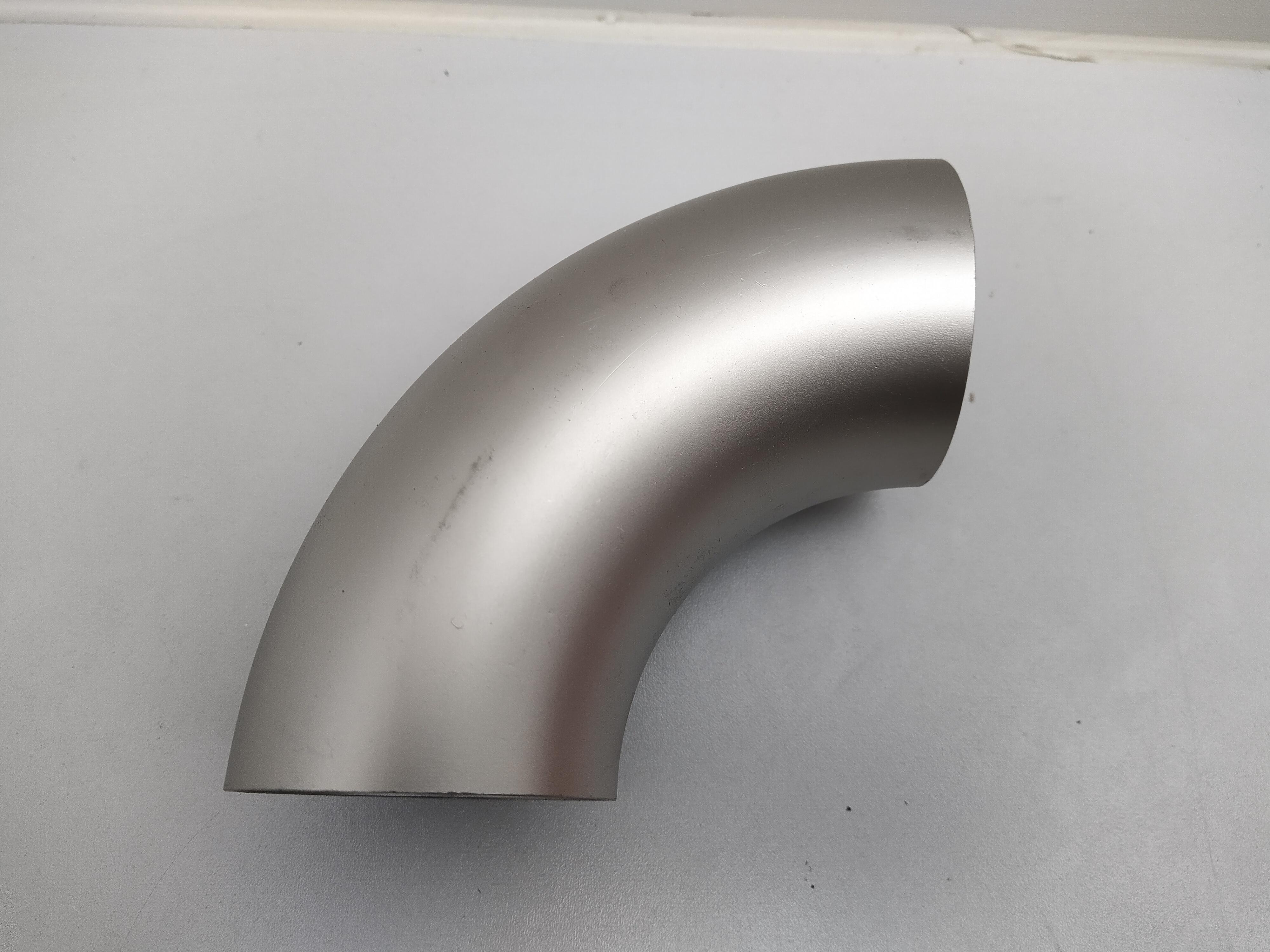 63,5x1,5mm 2,5 Zoll 90 Grad Bogen Edelstahl V2A