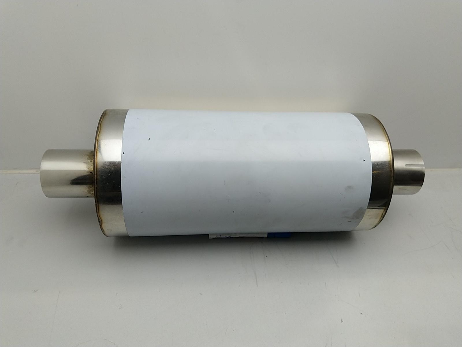 Uni-Schalldämpfer rund mit Stutzen 76mm 3 Zoll