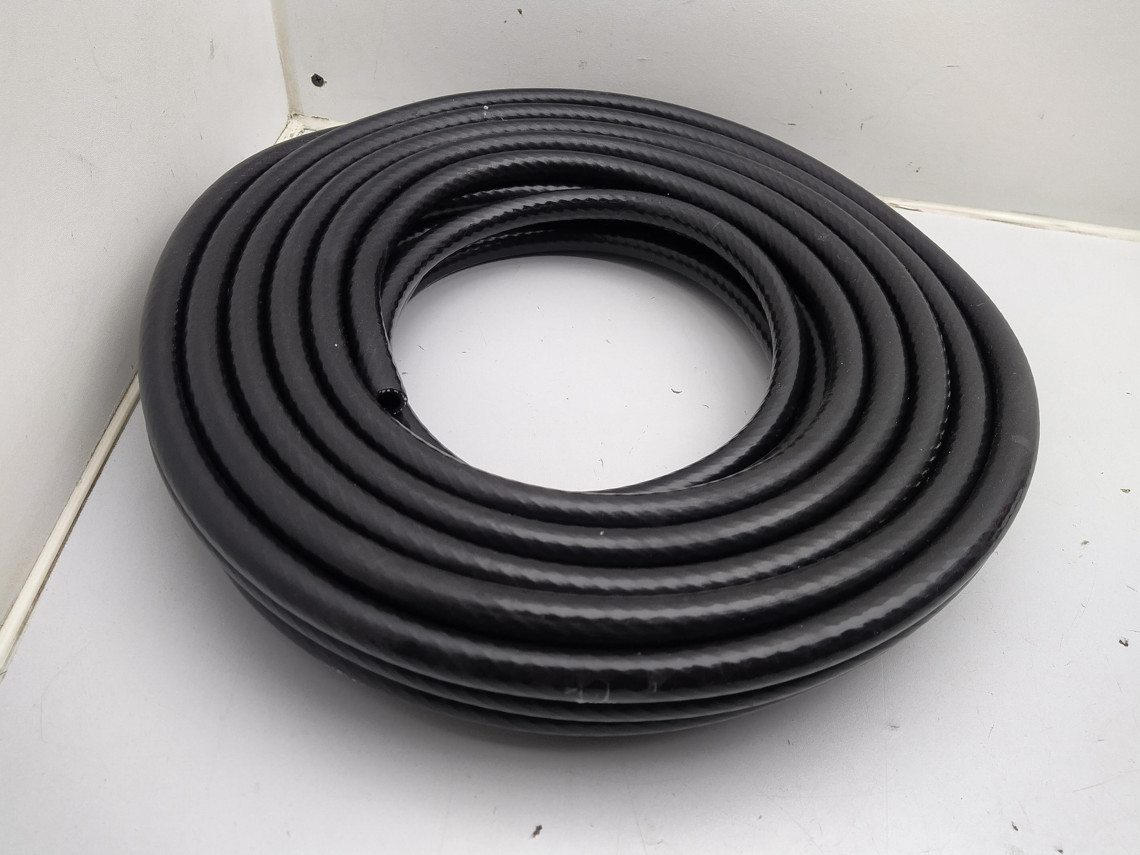 10mm Silikon Unterdruckschlauch verstärkt schwarz