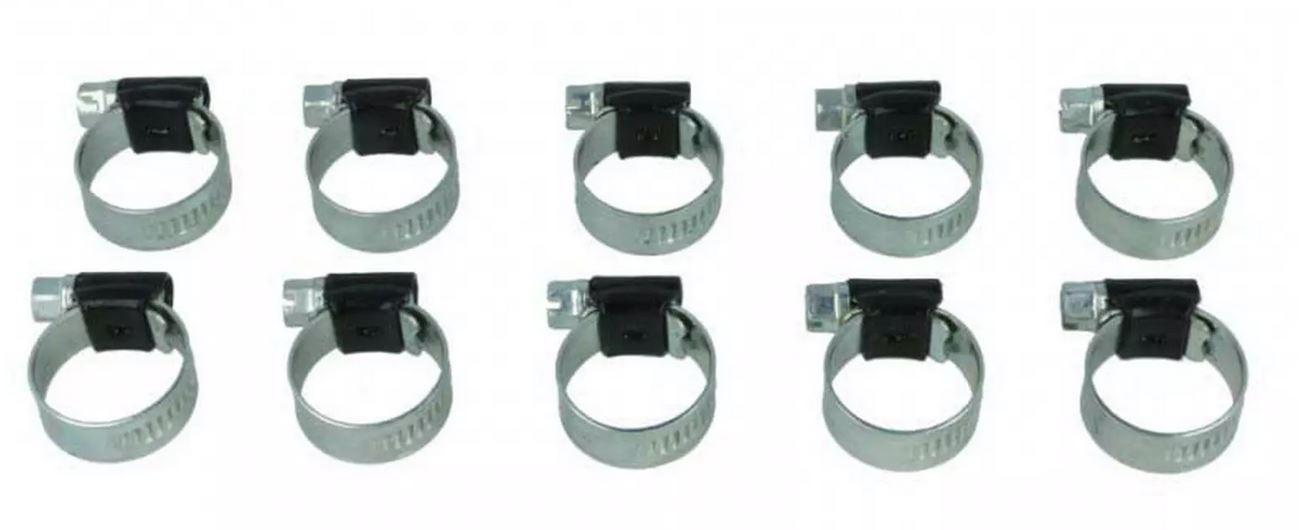 10er Pack HD Schlauchschelle, schwarz, 104-138mm